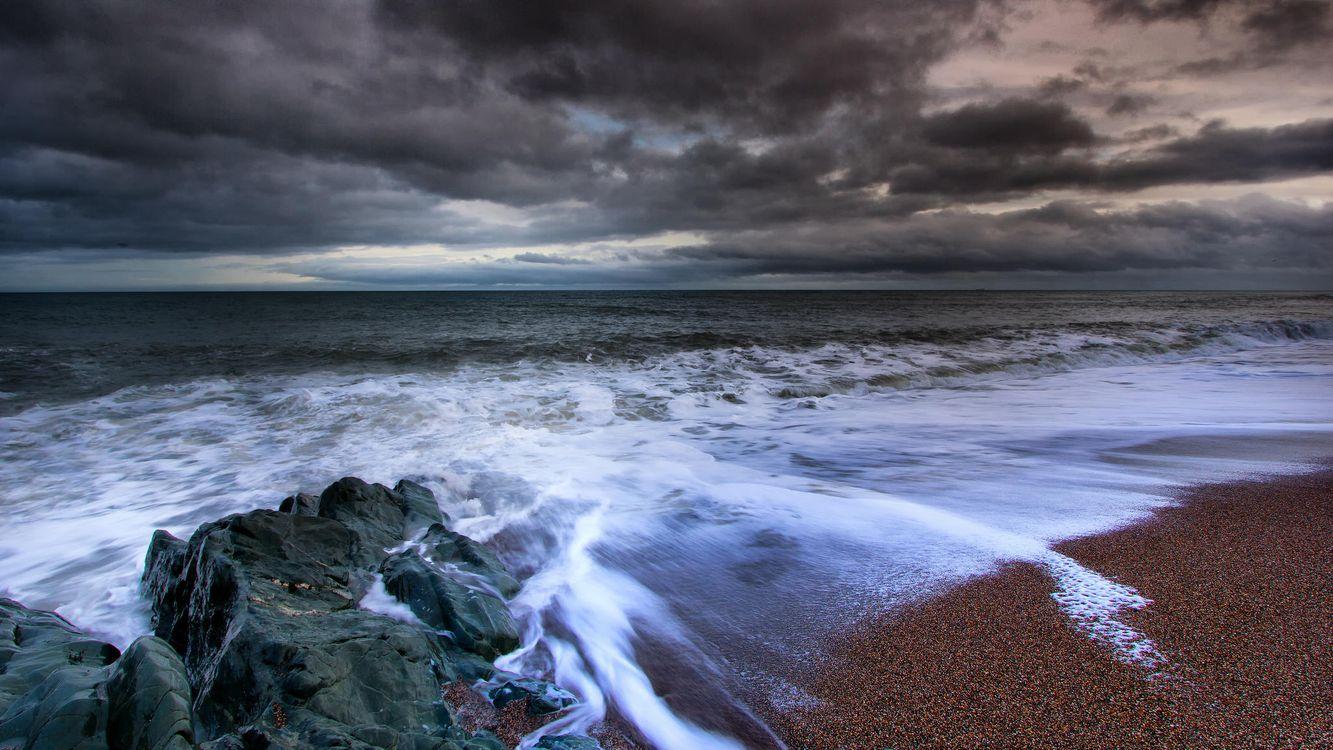 Фото бесплатно море, берег, закат, скалы, волны, пейзаж - на рабочий стол