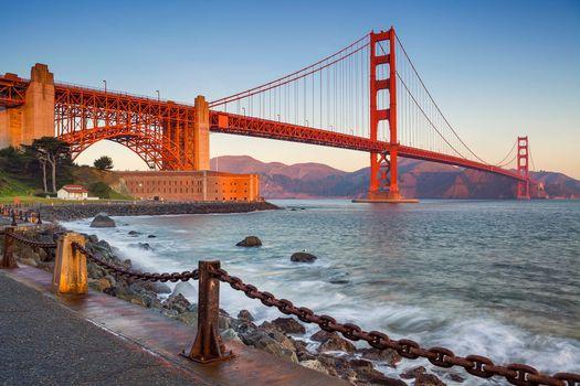 Фото бесплатно Мост Золотые ворота в Сан-Франциско, Golden Gate Bridge, San Francisco