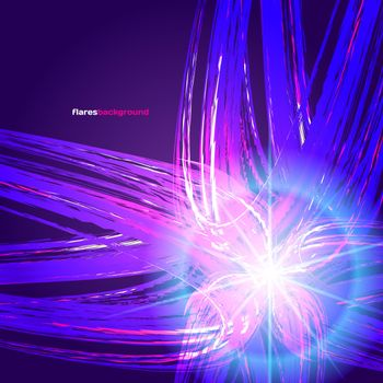 Flares background ball · free photo