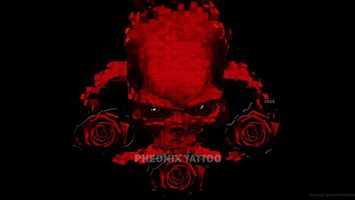 Photo free skull, red, rose