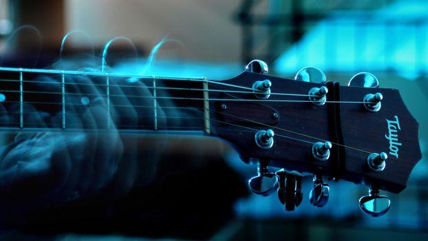Фото бесплатно гитара, гриф, струны