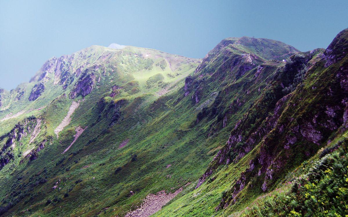 Фото бесплатно вершины, горы, небо - на рабочий стол