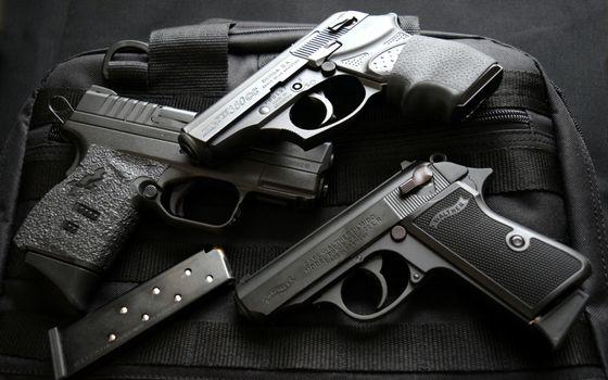 Фото бесплатно пистолеты, оружие, опасность