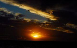 Бесплатные фото вечер,горизонт,небо,солнце,закат,облака