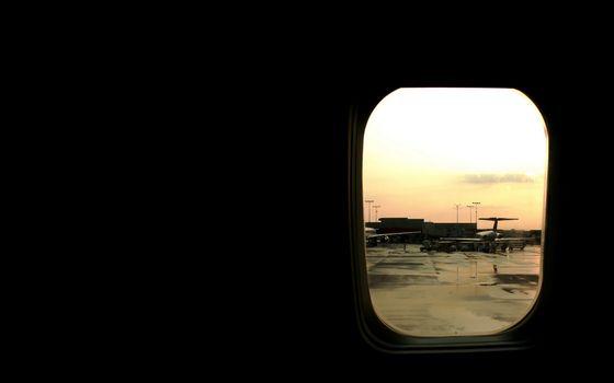 Фото бесплатно самолет, иллюминатор, вид