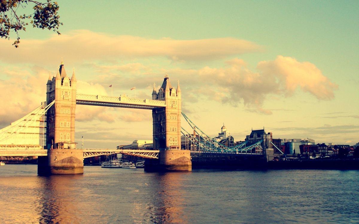 Фото бесплатно Лондон, река, Темза, Тауэрский мост, достопримечательность, дома, здания, город