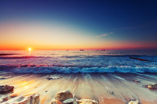 Photo free landscape, evening, view from the shore