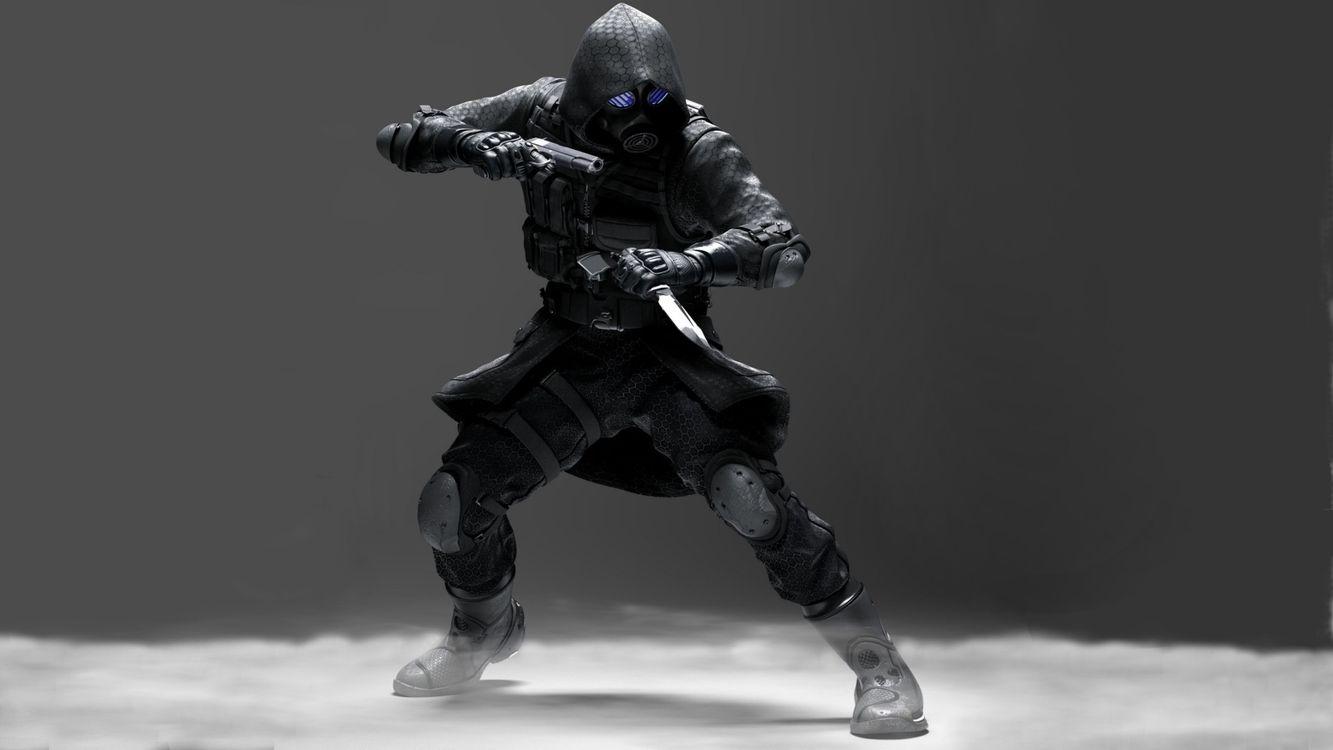 Фото бесплатно Resident Evil: Operation Raccoon City, ниндзя, пистолет, нож, камуфляж, маска, игры