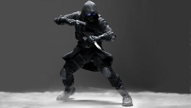Бесплатные фото Resident Evil: Operation Raccoon City,ниндзя,пистолет,нож,камуфляж,маска