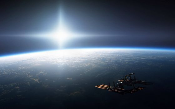 Заставки Искусственный спутник Земли, космический летательный аппарат, Земля