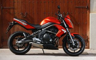 Photo free kawasaki, sportbike, red