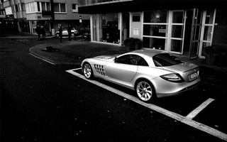 Photo free Mercedes SLR, silver, sports car