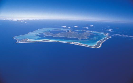 Photo free island, volcano, ocean