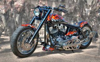 Бесплатные фото Harley-Davidson,мотоцикл,тюнинг,аэрография