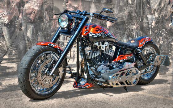 Photo free Harley-Davidson, motorcycle, tuning