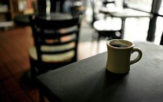 Фото бесплатно кофе, часка кофе, столик