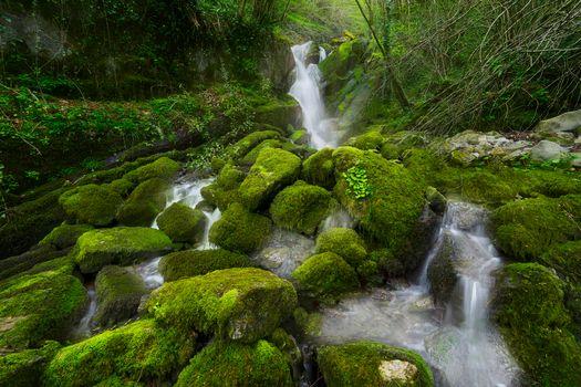 Фото бесплатно речка, камни, водопад