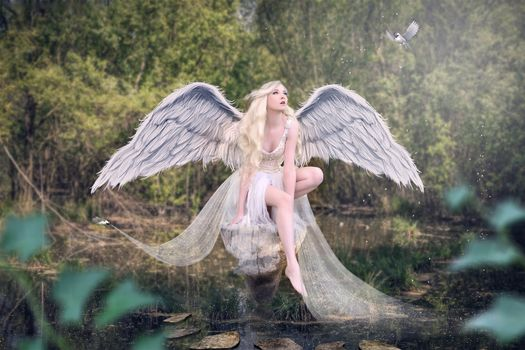 Photo free fantasy girl, angel, model