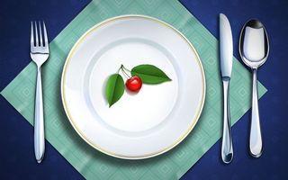 Бесплатные фото сервировка, салфетка, вилка, ложка, нож, тарелка, ягода