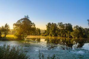 Бесплатные фото закат,водоём,пруд,озеро,деревья,пейзаж