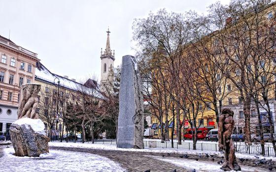 Фото бесплатно зима, скульптуры, стелла