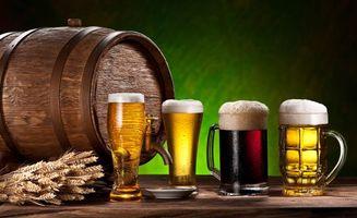 Бесплатные фото Drinks Beer Barrel,пиво,напиток,бочка,кружки
