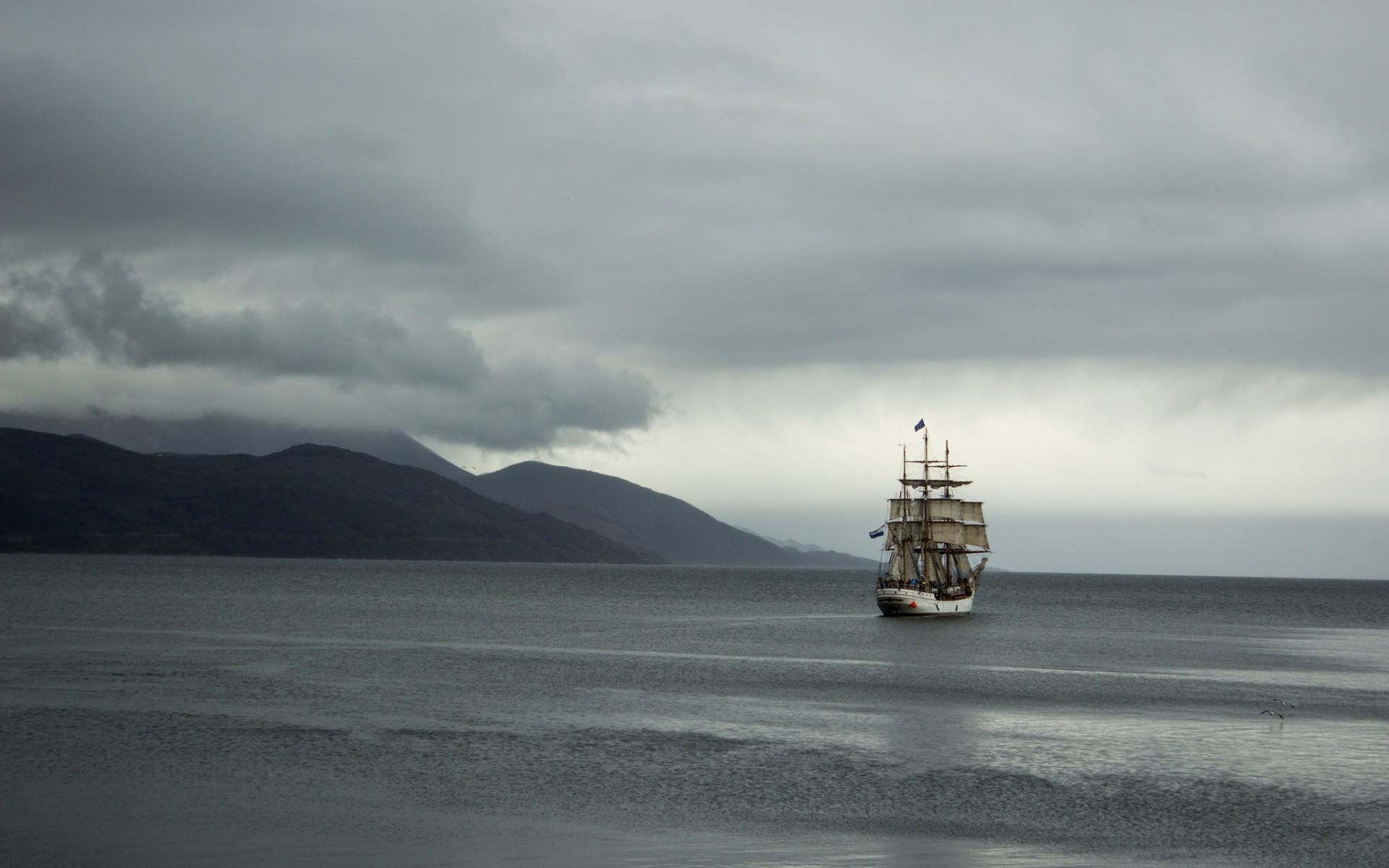 корабль, парусник, порт