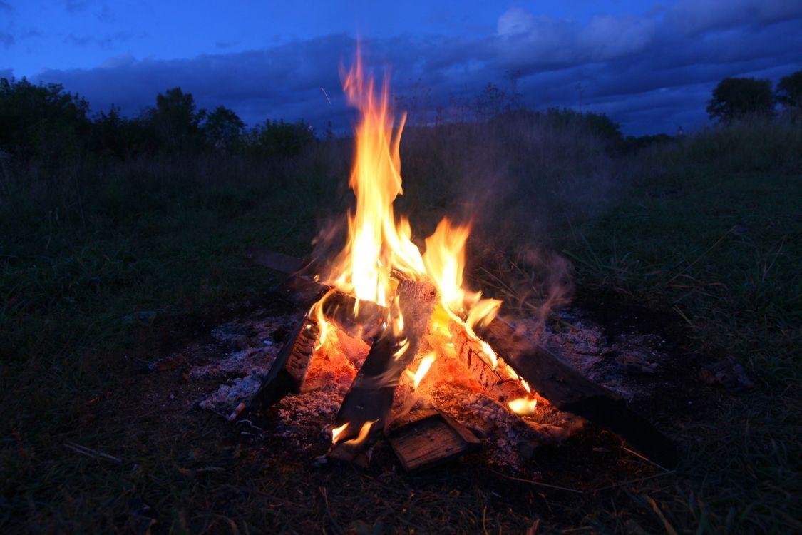 Фото бесплатно костер, пламя, природа - скачать на рабочий стол