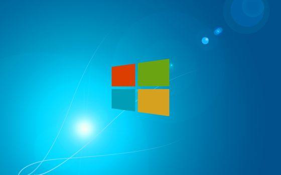 Фото бесплатно майкрософт, значок, эмблема, кубики цветные, фон голубой