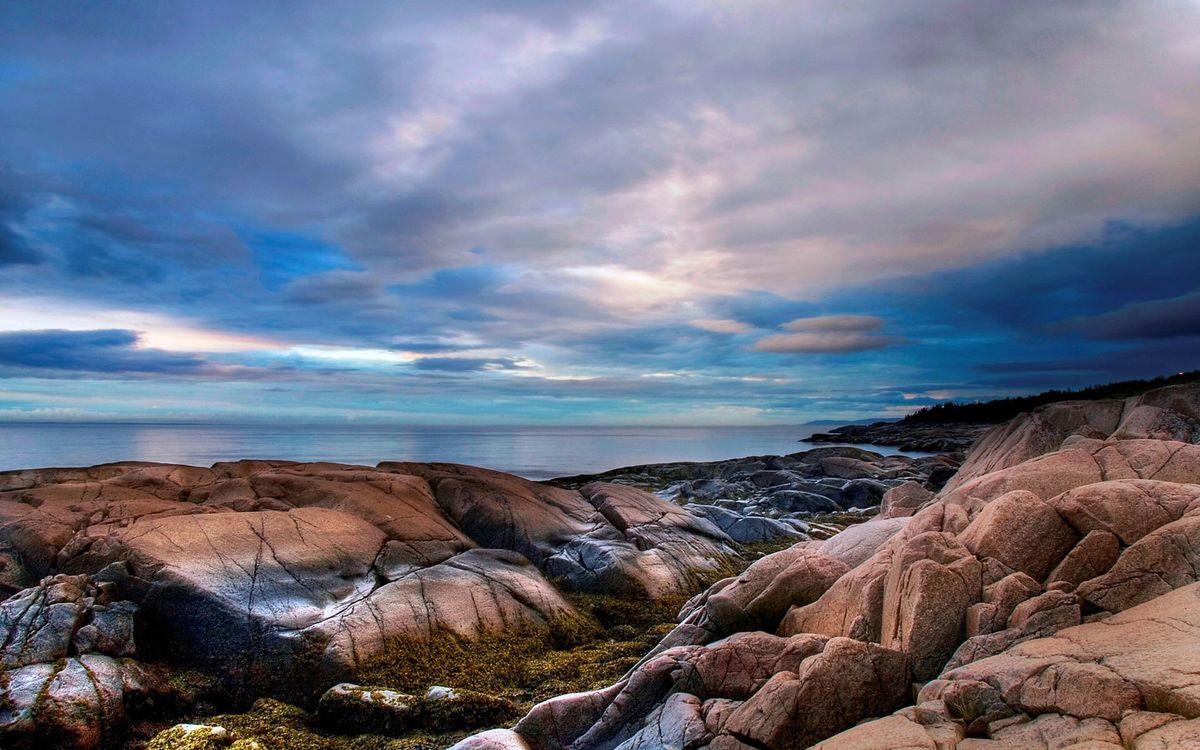Фото бесплатно побережье, камни, море - на рабочий стол