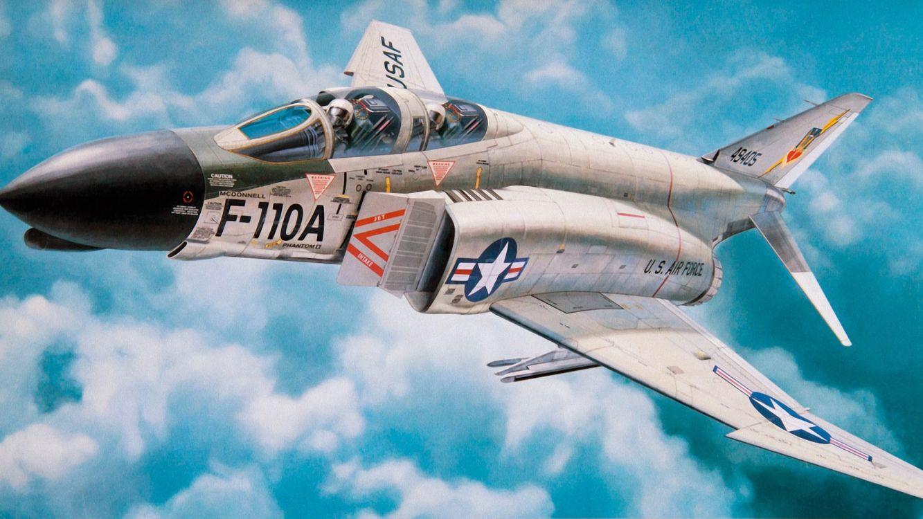 Фото бесплатно истребитель, облака, крылья - на рабочий стол