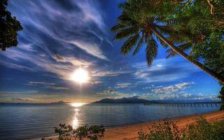 Фото бесплатно облака, море, Пирс