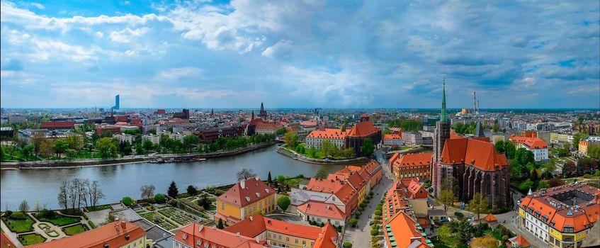 Бесплатные фото Вроцлав,Польша,город,панорама