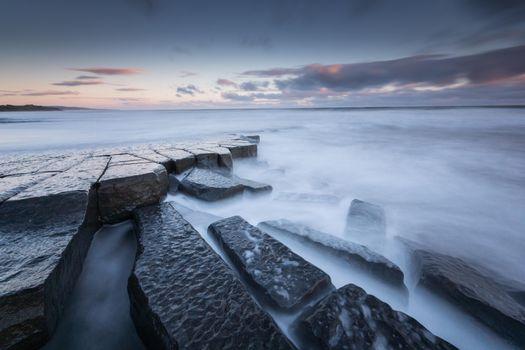 Заставки Морской пейзаж, Северное море, Северо-Восточная Англия