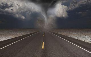 Фото бесплатно разметка, асфальт, торнадо