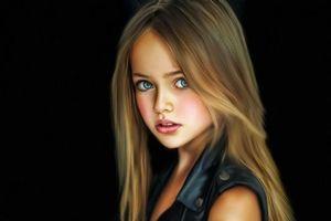 Фото бесплатно Kristina Pimenova, Кристина Пименова, модель, портрет, холст