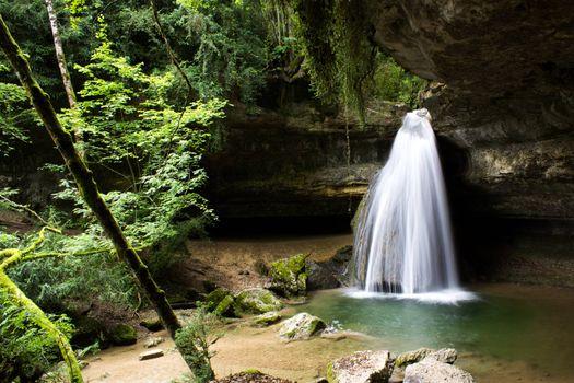 Фото бесплатно водопад, джунгли, растительность
