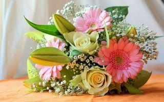 Бесплатные фото букет, композиция, лепестки, листья, цветы, разные