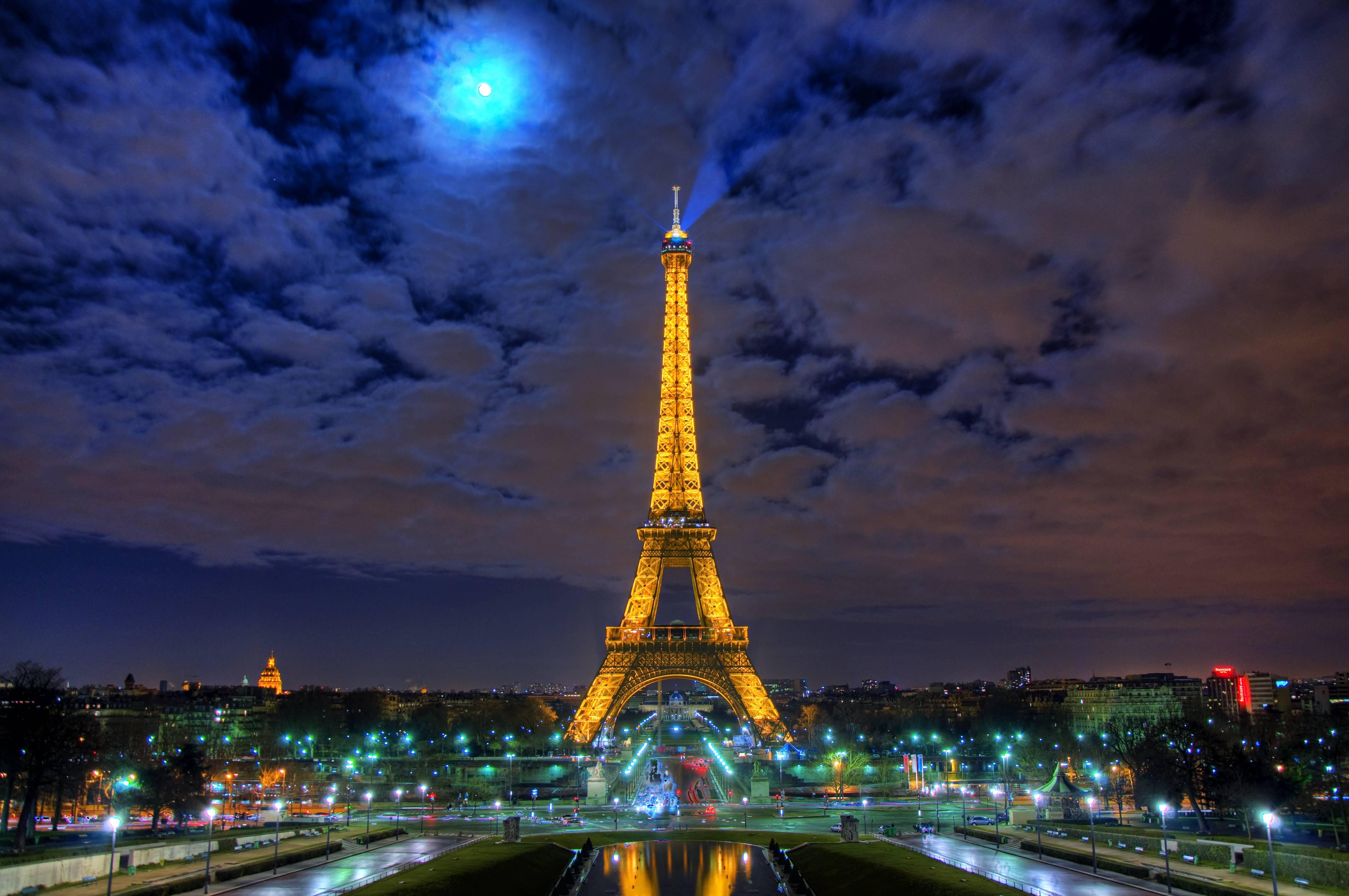 Париж сумерки ночь город вечер  № 2227427 загрузить