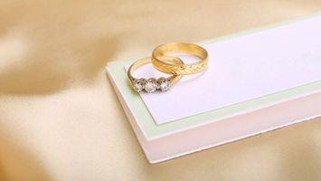 Заставки кольца, свадьба, коробка