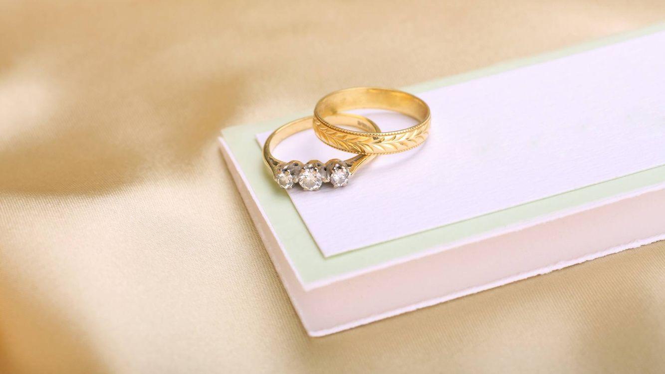 Фото бесплатно кольца, свадьба, коробка - на рабочий стол