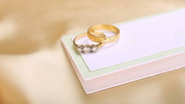Photo free ring, wedding, box