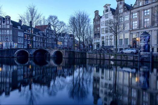 Скачать обои столица и крупнейший город нидерландов, амстердам