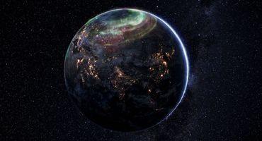 Бесплатные фото планета Земля,северное сияние,вид из космоса,ночь