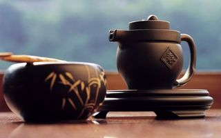 Заставки Японский чай,чайник,чашка