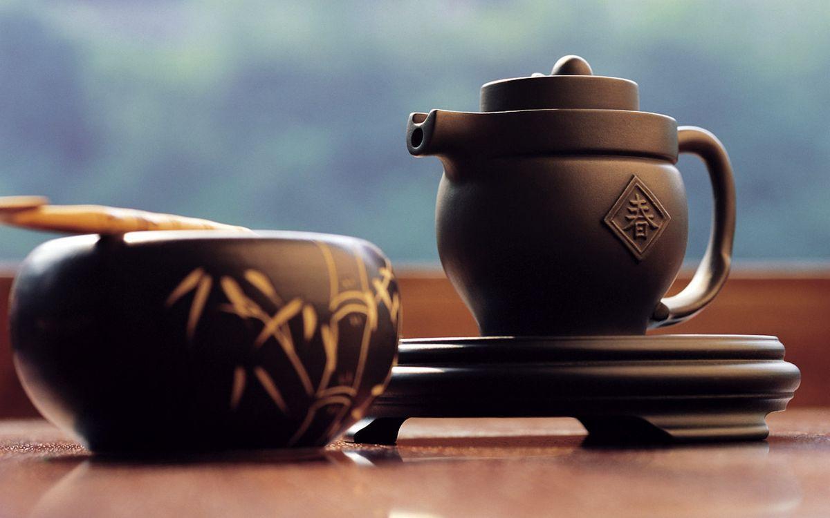 Фото бесплатно Японский чай, чайник, чашка, напитки