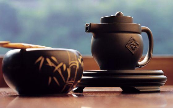 Photo free Japanese tea, teapot, cup