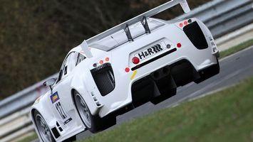Фото бесплатно спорткар, белый, тюнинг