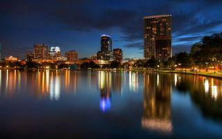 Фото бесплатно ночь, озеро, отражение