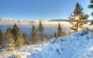 Бесплатные фото зимнее озеро,сугробы,лед,восход солнца,мороз